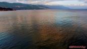 Makedonie, večerní koupel v Ohridském jezeře