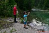krmení ryb v Salze :-)