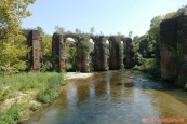 Řecko, římský akvadukt antické Nikopolis, Agios Georgios