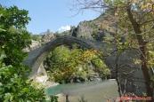 Řecko, starý most u Konitsa (Γεφύρι Κόνιτσας)