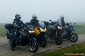 hustá mlha, mrholení a 10°C - ideální počasí na motorku :-)
