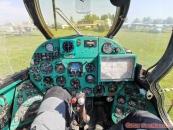 Letecké muzeum Koněšín, v kokpitu Mi-24