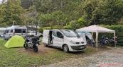 náš základní tábor v kempu Lago 3 Comuni