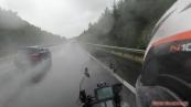cestu domů nám občas zkřížil déšť...