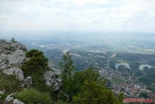 Albánie, vyhlídka nad Krujë