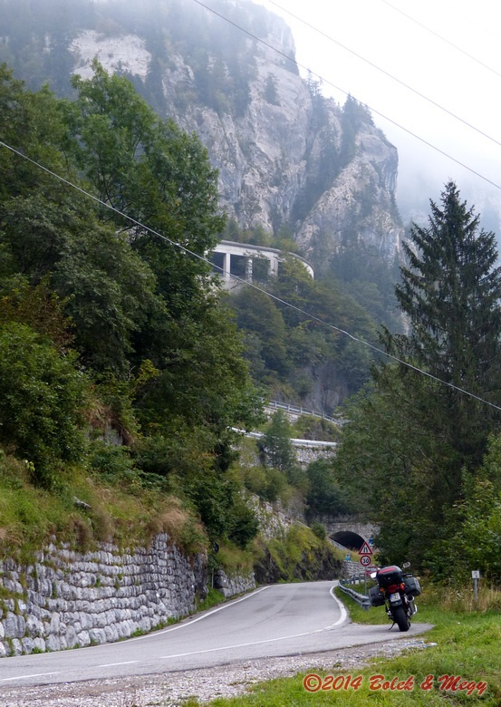 Plöckenpass, jižní rampa