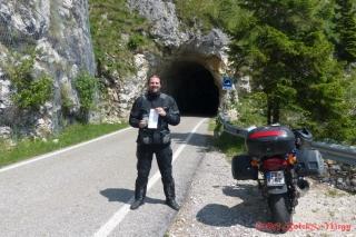 FTF na kešce I tunnel del Grappa ;-)