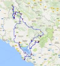 mapa Balkán