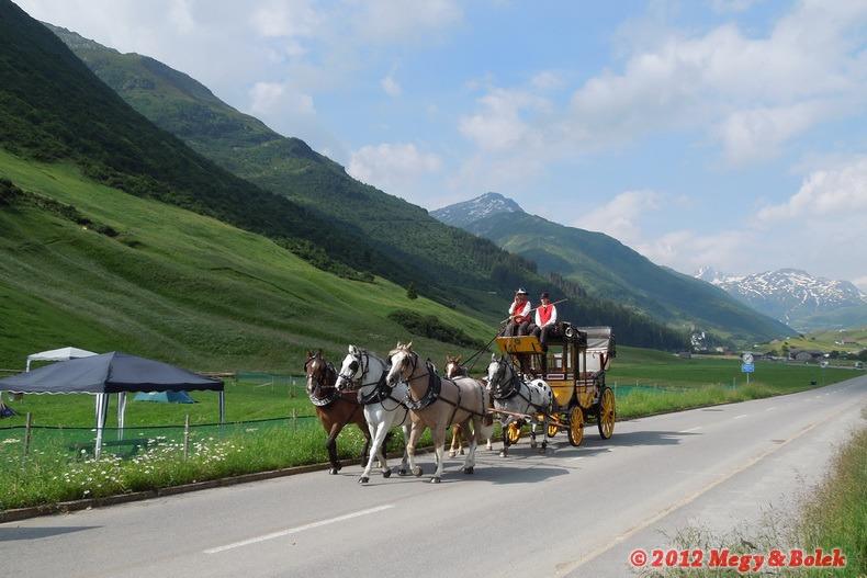 historický poštovní dostavník Andermatt - St. Gotthard - Airolo